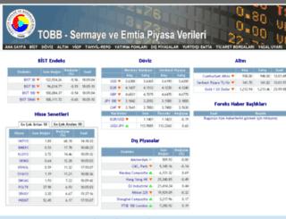 piyasalar.tobb.org.tr screenshot