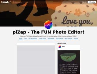 pizap.tumblr.com screenshot
