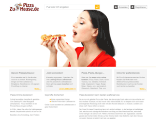 pizzazuhause.de screenshot