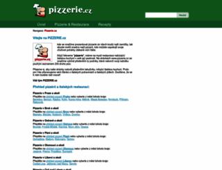 pizzerie.cz screenshot
