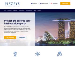 pizzeys.com.au screenshot