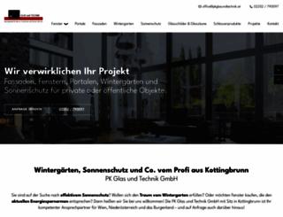 pk-glas-und-technik.at screenshot