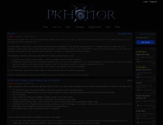 pkhonor.net screenshot