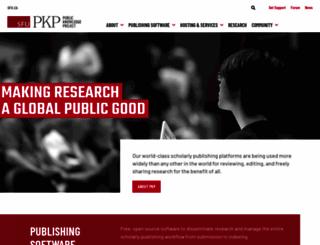 pkp.sfu.ca screenshot