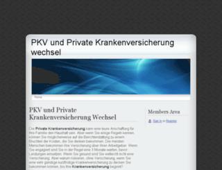 pkv-private-krankenversicherung.webs.com screenshot
