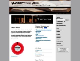 place.asburyseminary.edu screenshot