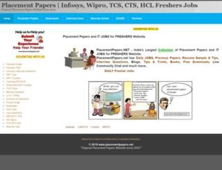 placementpapers.net screenshot