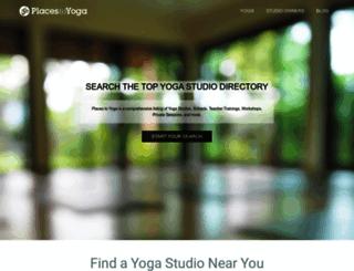 placestoyoga.com screenshot