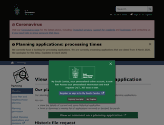 plan.scambs.gov.uk screenshot
