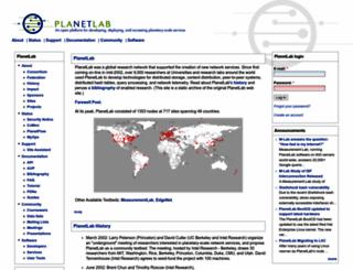 planet-lab.org screenshot