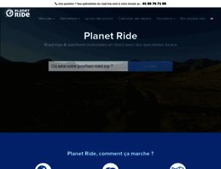 planet-ride.com screenshot