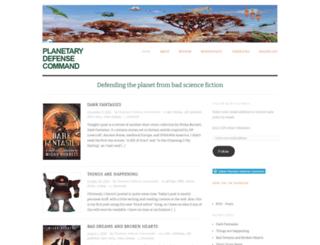 planetarydefensecommand.wordpress.com screenshot