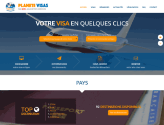 planete-visas.fr screenshot