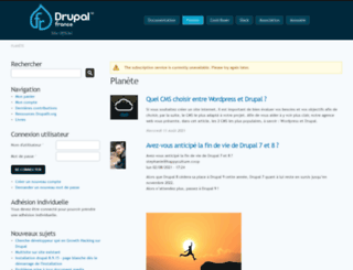 planete.drupalfr.org screenshot