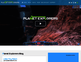 planetexplorers.pathea.net screenshot