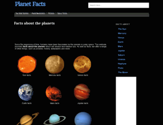 planetfacts.org screenshot