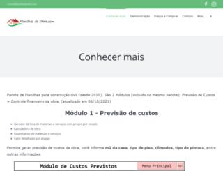 planilhasdeobra.com screenshot