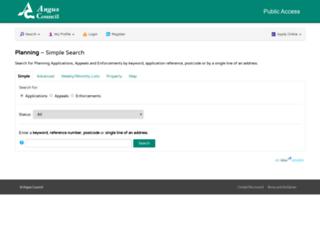 planning.angus.gov.uk screenshot
