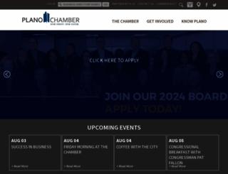 planochamber.org screenshot