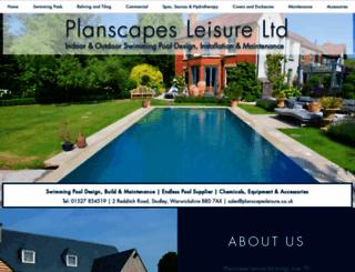planscapesleisure.co.uk screenshot