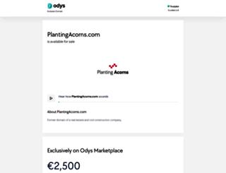 plantingacorns.com screenshot