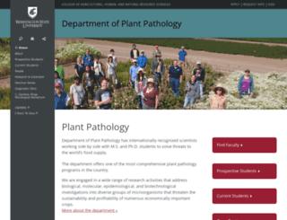 plantpath.wsu.edu screenshot