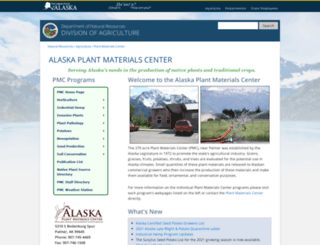 plants.alaska.gov screenshot
