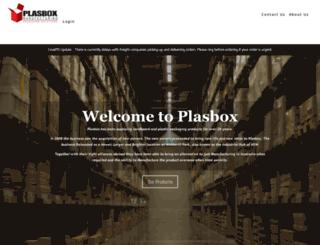 plasbox.com.au screenshot