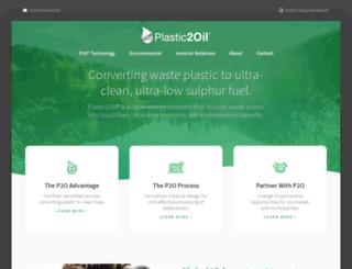 plastic2oil.com screenshot