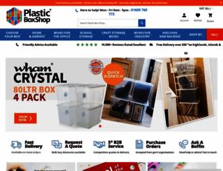 plasticboxshop.co.uk screenshot