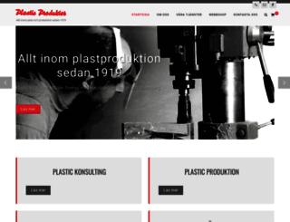 plasticprodukter.se screenshot