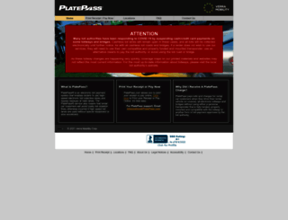 platepass.com screenshot