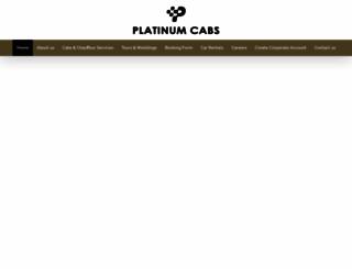 platinumcabs.com screenshot
