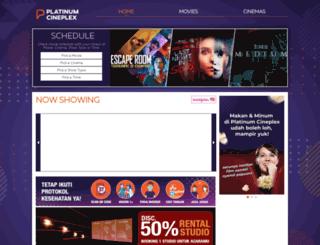 platinumcineplex.co.id screenshot