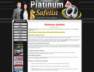 platinumsafelist.com screenshot