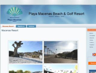 playamacenas.com screenshot