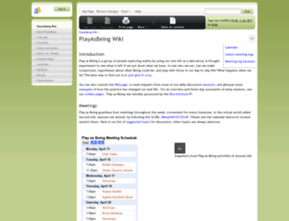 playasbeing.org screenshot