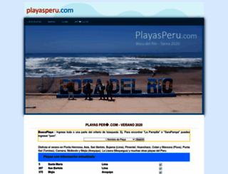 playasperu.com screenshot