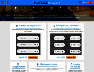 playbacksurmesure.com screenshot