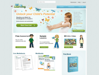 player2.k5learning.com screenshot