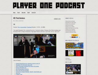 playeronepodcast.com screenshot