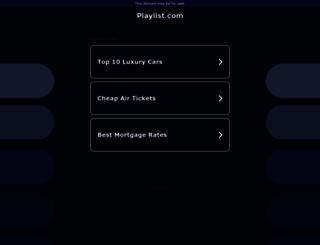 playlist.com screenshot