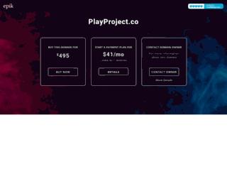 playproject.co screenshot