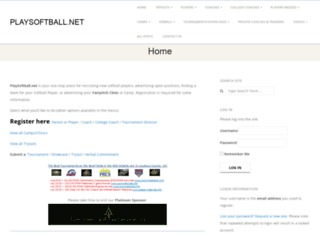 playsoftball.net screenshot