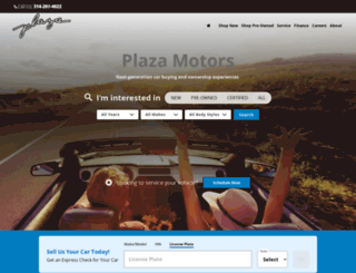plazamotors.com screenshot
