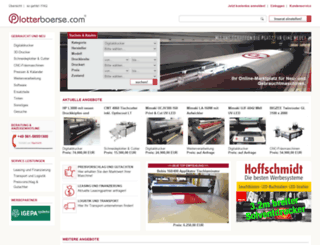 plotterboerse.com screenshot