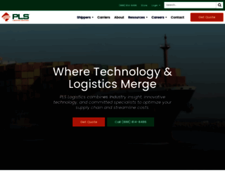 plslogistics.com screenshot