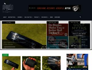 pluggedingolf.com screenshot