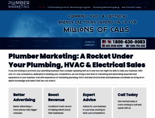 plumbermarketing.com screenshot