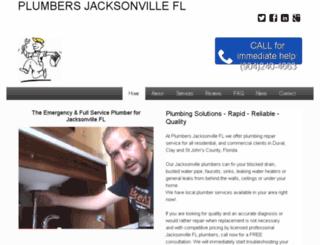 plumbersjacksonvillefl.net screenshot